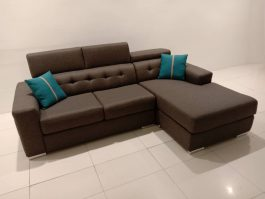 MH1030 Modern & Comfy 2 Seater + L Shape Sofa with High Density Foam, Water Repellent Fabric and Solid Wood Frame