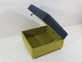 MH-Stool7155 Fancy Large Storage Square Stool with Cleanable Water Repellent Fabric