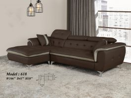 MH618 Classy Casa Leather 2.5 Seater + L Shape Sofa with High Density Foam & Solid Wood Frame