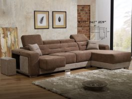 MH898 Stain Removable Fabric 3 Seater + L Shape Sofa with Solid Wood & High Density Foam
